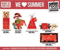 We love festive cheer at Food Lover's Market Knysna and we bring you fantastic specials such as: Chocolate balls in Carlton 120g only R39.99 each Plush Jelly Beans 120g only R32.99 each Praline Truffles 195g only R69.99 each Praline Stars 65g only R29.99 each... See More