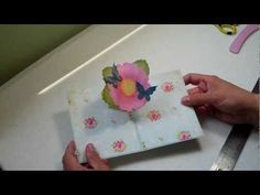 pedestal pop up card - YouTube