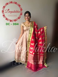 DC Beautiful floor length dress from Deepshika. For queries kindly whatsapp : 9059683293 Designer Salwar Kameez, Designer Anarkali Dresses, Designer Dresses, Salwar Designs, Saree Blouse Designs, Saree Blouse Models, Saree Dress, Frock Dress, Dress Models