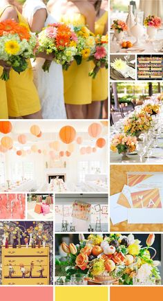 A Citrus Inspired Wedding Color Palette of Lemon, Tangerine and Grapefruit | TheKnot.com