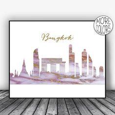 Bangkok Skyline, Bangkok Print, Bangkok Thailand Art, Office Decor, Office Art, Modern Art Print, Watercolor City Posters, ArtPrintsZoe #BangkokPrint #BangkokThailand #ArtPrint #ModernArt #OfficeDecor #Bangkok #ModernArtPrint #ArtPrintsZoe #BangkokSkyline #OfficeArt