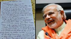 A handwritten reply from #Modi would have made the boy very happy! www.sta.cr/2Boa3