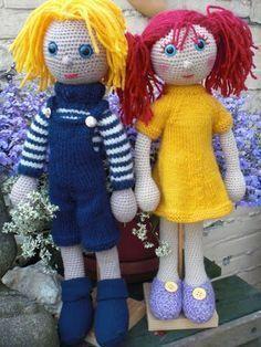 Haak Maar Aan: De poppen van Arne en Carlos, het patroon