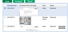 Screenshot - Virtual Address Control Panel http://www.mailboxforwarding.com/index.php