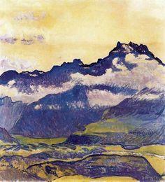 Dents-du-Midi de Ferdinand Hodler (1853-1918, Switzerland)