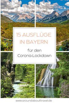 Hier haben wir Euch Ausflüge in Bayern für den Corona-Lockdown von Erlebnispfaden über Wanderungen zu Wasserfällen sowie spektakulären Bergpanoramen und Seen zusammen getragen.