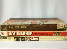 Lot of 3 Clue 1979 Battleship 1978 Parcheesi 1982 #MiltonBradleyParkerBothers