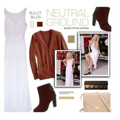 Cool Neutrals with #bulletblues American made maxi dress by bulletblues on Polyvore featuring rag & bone, Club Monaco and Bullet