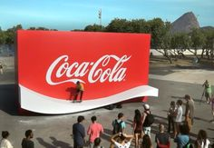 Coca-Cola Creates a Logo You can skate on! How smart and to target a specific demographic Street Marketing, Viral Marketing, Guerilla Marketing, Marketing And Advertising, Guerrilla Advertising, Good Advertisements, Advertising Campaign, Ads Creative, Creative Advertising