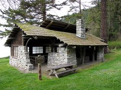 Bowman Bay Kitchen Shelter built by the Civilian Conservation Corps in the 1930s.    Partners in Preservation/National Trust for Historic Preservation 2010.