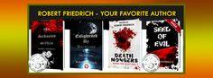 Sci-fi Saga – SEED OF EVIL. Book Presentation, Dark Stories, Sci Fi Horror, Book Cover Design, Banner, Author, Website, Books, Livros