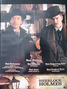 "Oscar ad for all main categories, ""Sherlock Holmes"" (2009)."