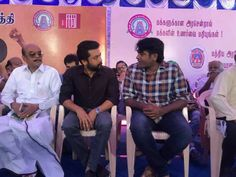 Vijaysethupathi , Suriya at TFSC Protest against sterlite and carvery issue