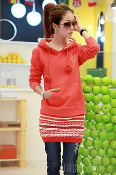 Multi Color Fake Two Pieces Set Casual Hoodie