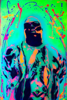 Notorious BIG black light art for sale in my etsy store  #biggie #notoriousbig #neon #blacklight
