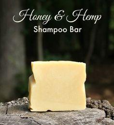 Honey and Hemp Shampoo Bar Recipe. Cold process shampoo bar recipe from Jan Berry at The Nerdy Farm Wife. Healthy Hair. DIY Shampoo.