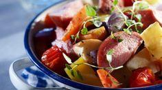 Omenaiset uunikasvikset ja -makkara Chili, Beef, Food, Meat, Chile, Essen, Meals, Chilis, Yemek