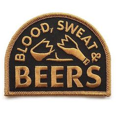 Blood Sweat and Beers #patch by @reverecompany available now in their store. Plus many more #patches and #lapelpins. Link is in their bio. Check them out. .  #reverecompany #patchgame #blood #sweat #beers #drink #portland #pacificnorthwest #brokenglass