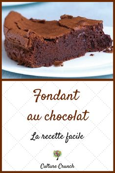 Fondant baulois - New ideas Desserts Menu, French Desserts, Easy Desserts, Dessert Recipes, Easy Chocolate Desserts, Fast Food, Ricotta, Coco, Sweet Recipes