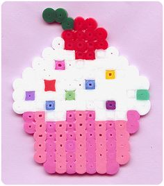 Cupcake hama beads by ObsessiveCuteness