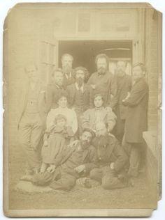 Russian Emigres in England, 1890    On the reverse is inscribed: 'Old revolutionists in England, Stepniak-Kravchinsky, Tchaycovsky, Lazarov, Volkovsky, Shishkov (and) Mrs Stepniak'.