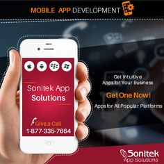 Get #MobileApps that work seamlessly and efficiently for your #Business. Know more here: http://www.sonitekapps.com/