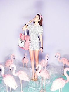 Pink sweets of Vogue Girl