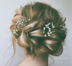 prom hair updo flowers