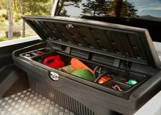 Nissan Navara Tool Box, Plastic - Seeking a lockable storage area for all your kit. This black plastic genuine Nissan accessory tool box is a viable solution. 4x4 Pick Up, Pick Up Nissan, New Trucks, Pickup Trucks, Nissan Navara Accessories, Nissan Navara D40, Nissan Hardbody, 4x4 Accessories, Offroader
