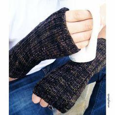Fingerless Gloves  KnitzyBlonde - Men's Fingerless Gloves