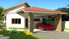 ProjetarCasas: Planta de Casas   Projeto de casa térrea, com 3 quartos, sendo 1 suíte e garagem - Cód 38