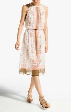 SUMMER NEW ARRIVAL FASHION LADIES' POSITIONING FLOWER PRINT ELASTIC WAIST DRESS 2285