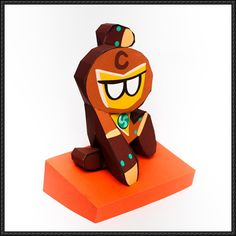 LINE Cookie Run - Hero Cookie Free Papercraft Download - http://www.papercraftsquare.com/line-cookie-run-hero-cookie-free-papercraft-download.html