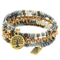 golds, silver & copper Memory wire w/charms!!