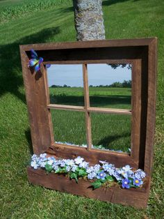 Custom Made Barnwood Framed Mirror with by BarnwoodInspirations, $55.00