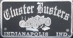 Car Club Plaque Cluster Busters, Indianapolis, Indiana http://www.relicsandrods.com/Plaques/ClusterBusters_Indianapolis-2.jpg