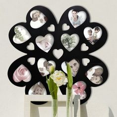 AdecoTrading 12 Opening Decorative Multi-Heart Wall Hanging Picture Frame