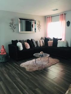 Cute Living Room, Living Room Decor Colors, Decor Home Living Room, Living Room Designs, Girl Apartment Decor, First Apartment Decorating, Apartment Living, Apartment Ideas, Room Ideas Bedroom