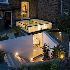 most beloved basement egress of all time. I do wonder about the practicality, and where these people live that they don't have to replace elements of the design all the time...