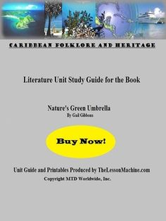 This literature unit supports the use of the Gail Gibbons book, Natures Green Umbrella in the classroom. Its perfect for studying tropical rain forests and also the ecosystems on the island of Dominica. Included are a unit-at-a-glance document for teachers, vocabulary glossary and crossword puzzle, spelling support pages in the form of secret code and word scramble activities, and answer keys for all student printables.  #worksheets #vocabulary #printables #activities