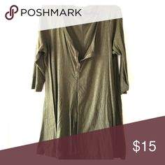 Torrid Olive Tunic So soft and cozy. Only worn a couple of times Torrid Tops Tunics