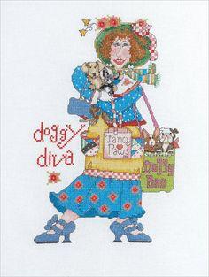 Cross Stitch Kit  Bucilla Doggy Diva by CrossStitchKitsOnly, $10.00
