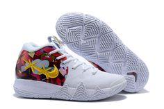 bd7620eeb68 Off-White x Nike Kyrie 4 White Basketball Shoes