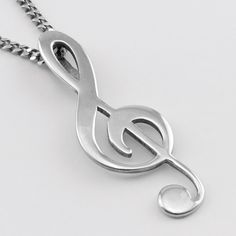 This Treble Clef Pendant is for serious musicians from all walks of life. No matter what you play or listen to the treble clef is a classic enduring design that people love. Weighing a delicate 3 grams of sterling silver. Treble Clef, Paper Beads, Sterling Silver Pendants, Bracelets, Necklaces, Etsy, Chain, Unique Jewelry, Handmade Gifts