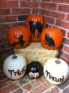 Cricut Vinyl Projects | Vinyl Pumpkins cricut-projects | Cricut Projects (: