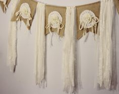 Handmade Tattered Garland Burlap Flags by CottonRidgeEmporium