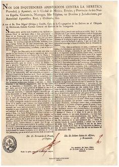 La Excomunión de Miguel Hidalgo y Costilla Por el Sumo Pontífice Pío VII   http://palabradeclio.blogspot.mx/2010/12/de-la-falsificacion-historica-con.html