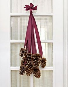 pinecones. LOVE this idea!
