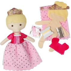 Make you own princess feltcraft doll Includes helpful instruction leaflet Set includes 1 x plastic sewing needle plastic buttons coloured sewing