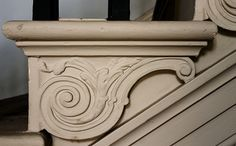 Ornate Stair Wood Carving - Brian Eno Speaker Flowers Sound Installation at Marlborough House Victorian Architecture, Historical Architecture, Art And Architecture, Baseboard Trim, Baseboards, Marlborough House, Stair Brackets, Sound Installation, Theme Tunes